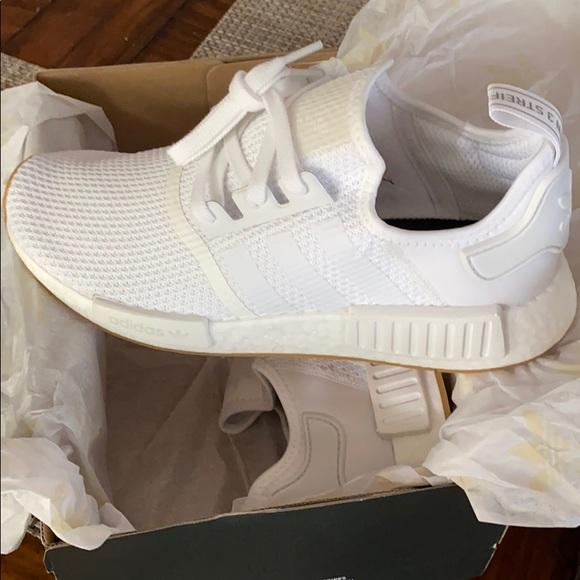 All White Adidas NMD R1